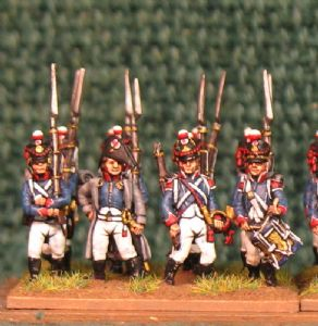 15mm, Napoleonic French Young Guard Tirailleurs (Advancing) 1809-1813 AB 24 Figures